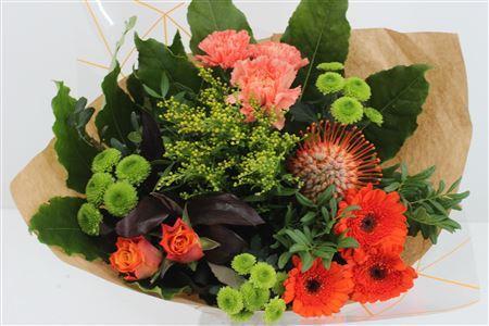 Bouquet with Orange Protea