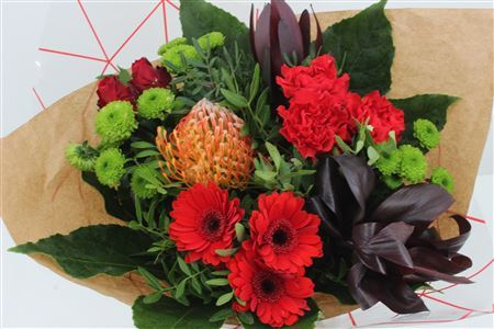 Bouquet with Red Protea